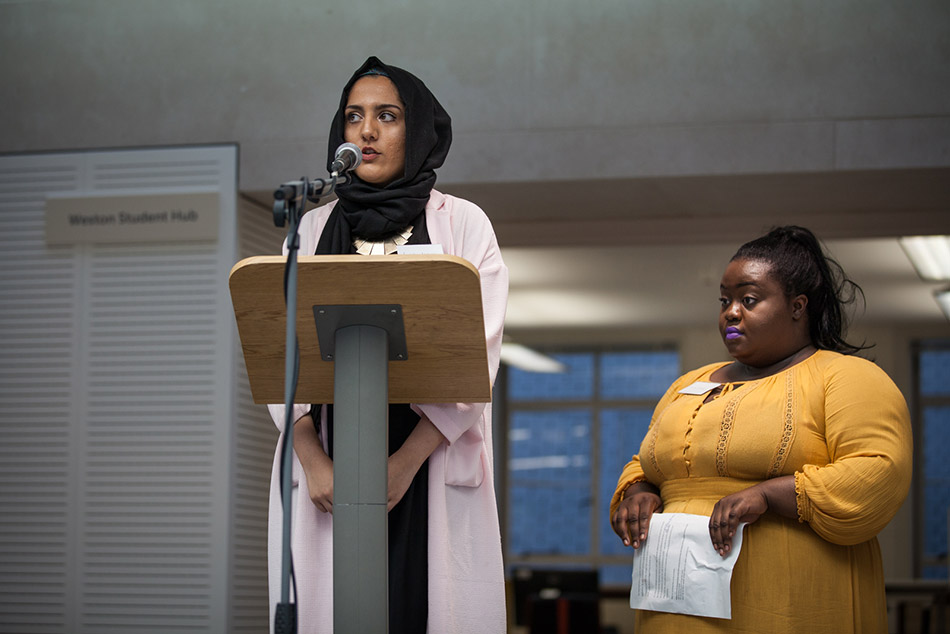 SOAS Students' Union Co-­Presidents, Adwoa Darko and Ayesha Abbasi