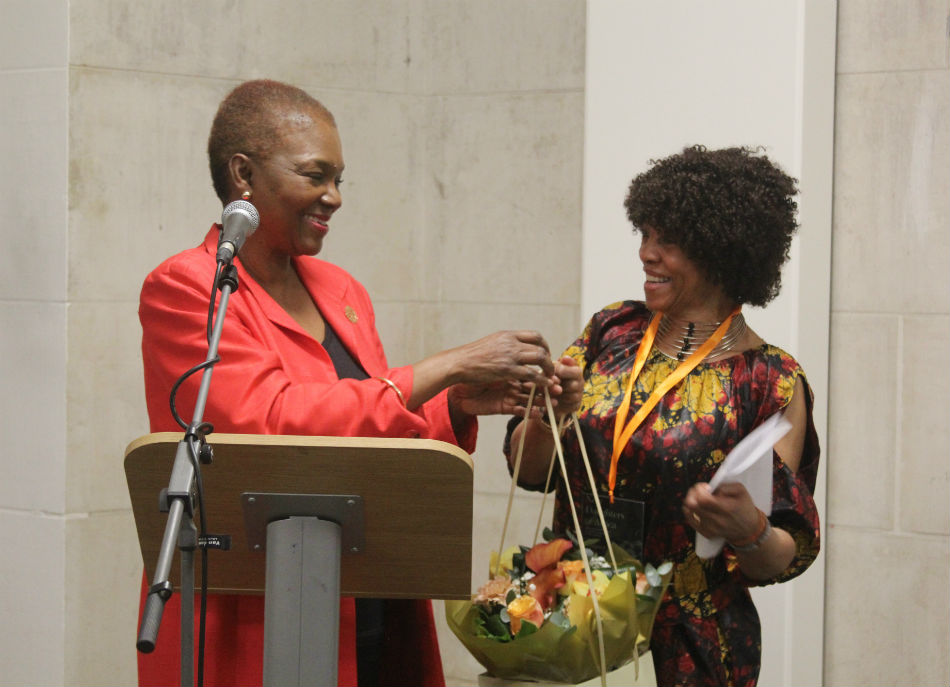 Margaret Busby with Valerie Amos