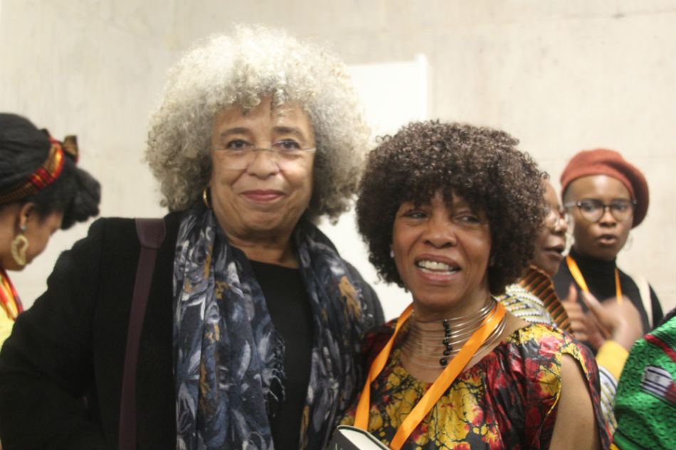 Margaret Busby with Angela Davis