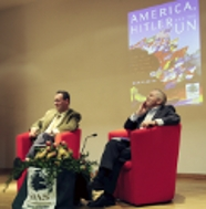 Dan Plesch and Jonathan Dimblebly at Plesch's Book Launch