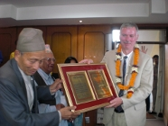 Michael Hutt Receiving Nai Derukha International Award