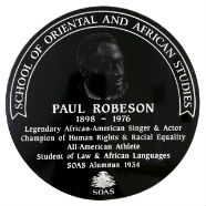 Paul Robeson plaque pic
