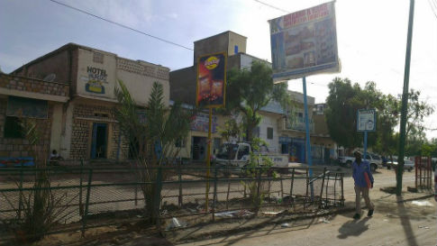 High street in Hargeisa the capital of Somaliland
