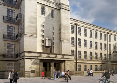 Architects' impression of Senate House North Block entrance