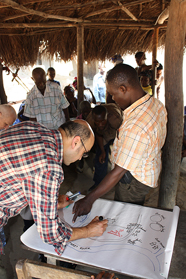 Cultural mapping with the community, Gbandi, Bo District, Sierra Leone.