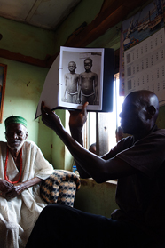 Photo elicitation work with the anthropological archive, Afokpella, North Edo, Nigeria.