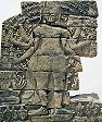 One of the magnificent carved outer gallery reliefs of the compassionate Buddhist deity Avalokitesvara