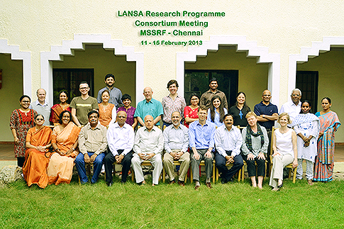 Bhavani Shankar and Nigel Poole from CeDEP, SOAS attend the LANSA programme in Chennai