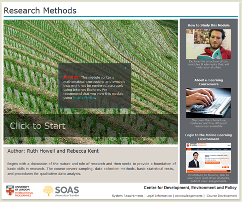 Click to start a demo of (Research Methods )