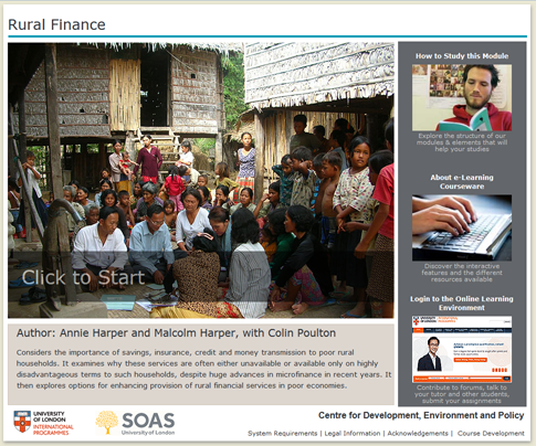 Click to start a demo of (Rural Finance)