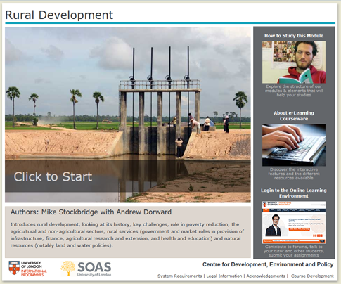 Click to start a demo of (Rural Development)