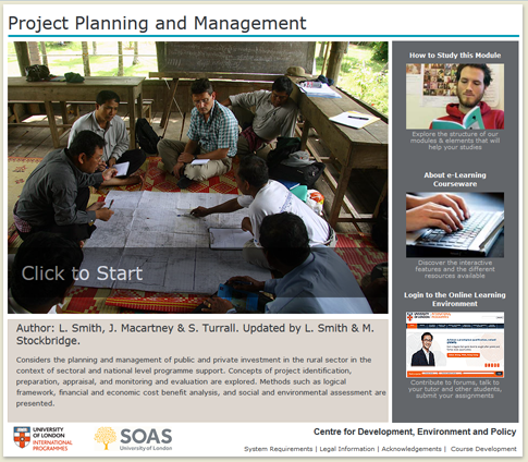 Click to start a demo of (Project Planning and Management)