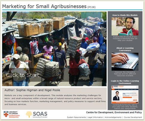 Click to start a demo of P538 module (Marketing for Small Agribusinesses)