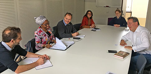 Mrs Ige (United Nations Regional Centre for Peace and Disarmament in Africa) visits CISD, SOAS University of London