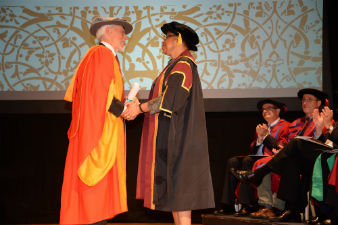 J. M. Coetzee & Graca Machel Graduation 2015