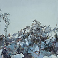 Hong Ling, Snow Dome, 2000, Oil on canvas, 200 x 200 cm, Collection of the artist