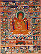 Thangka bearing portrait of Lama Sönam Lo‐trö('Merit Intellect')