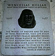 Memorial plaque to Wenceslas Hollar