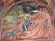 An angel of God interceding with Abraham to halt the sacrifice of Isaac