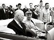 U.S. President Dwight D. Eisenhower (left) visits Taiwan on June 18, 1960