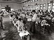 Students take the first-ever joint college entrance exam in 1954.