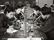 Students conduct experiments in a lab