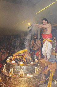 Sacrificial Fire in Kali Temple