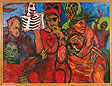Billy Buyisile Mandini, Acrylic on canvas, South Africa, 1993