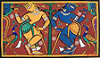 Jamini Roy, Krsna and Balarama, 1940's