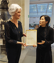 FDPS Progress Prize Winner Dian Tao with SOAS Pro-Director Professor Deborah Johnston