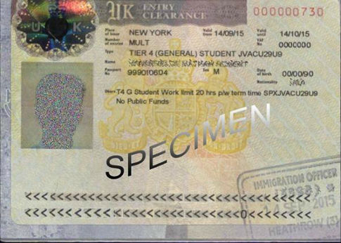 Specimen Residence Permit - Not able to work