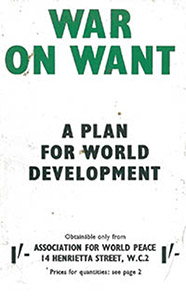 'War on Want - A Plan for World Development', 1952