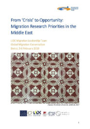 From 'Crisis' to Opportunity: Migration Research Priorities in the Middle East