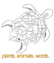Plants, animals, words workshop - logo