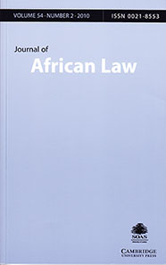 Journal of African Law Cover