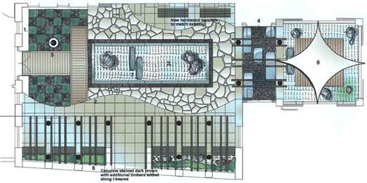 Roof Garden Plan Pleasing Japanesestyle Roof Garden At Soas University Of  London Design Inspiration