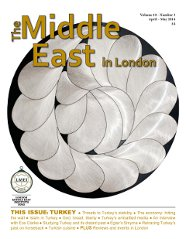Middle East in London Cover April-May 2014