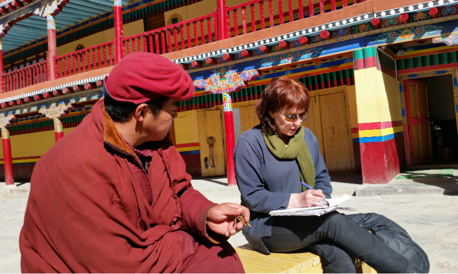 Louise Tythacott at Hemis Monastery